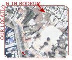 Our location on map in Bodrum, Mugla, Turkey?